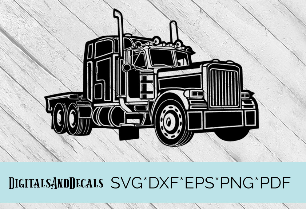 Truck, Lorry, HGV  SVG Cutting File  example image 1