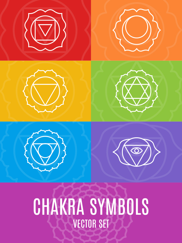 Chakra Symbols and Patterns Vector example image 8