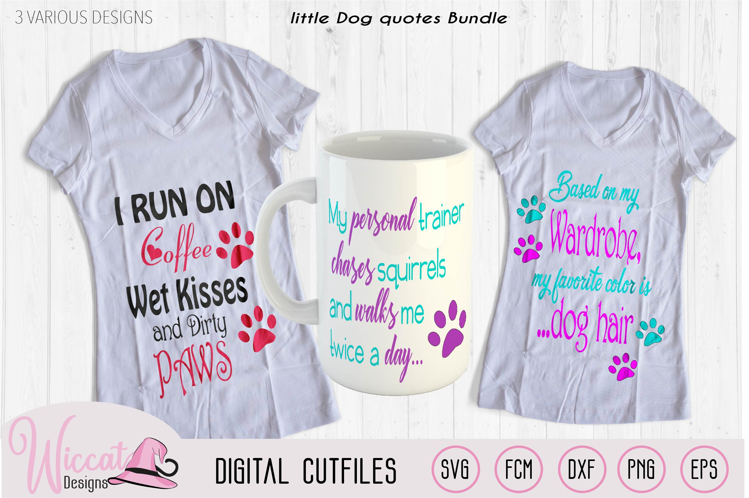 Dog quotes Bundle, Dog trainer, coffee and dog hair example image 1