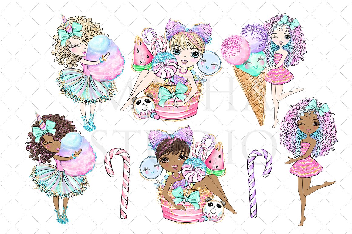 SWEET SUGAR CANDY LAND Clipart example image 2