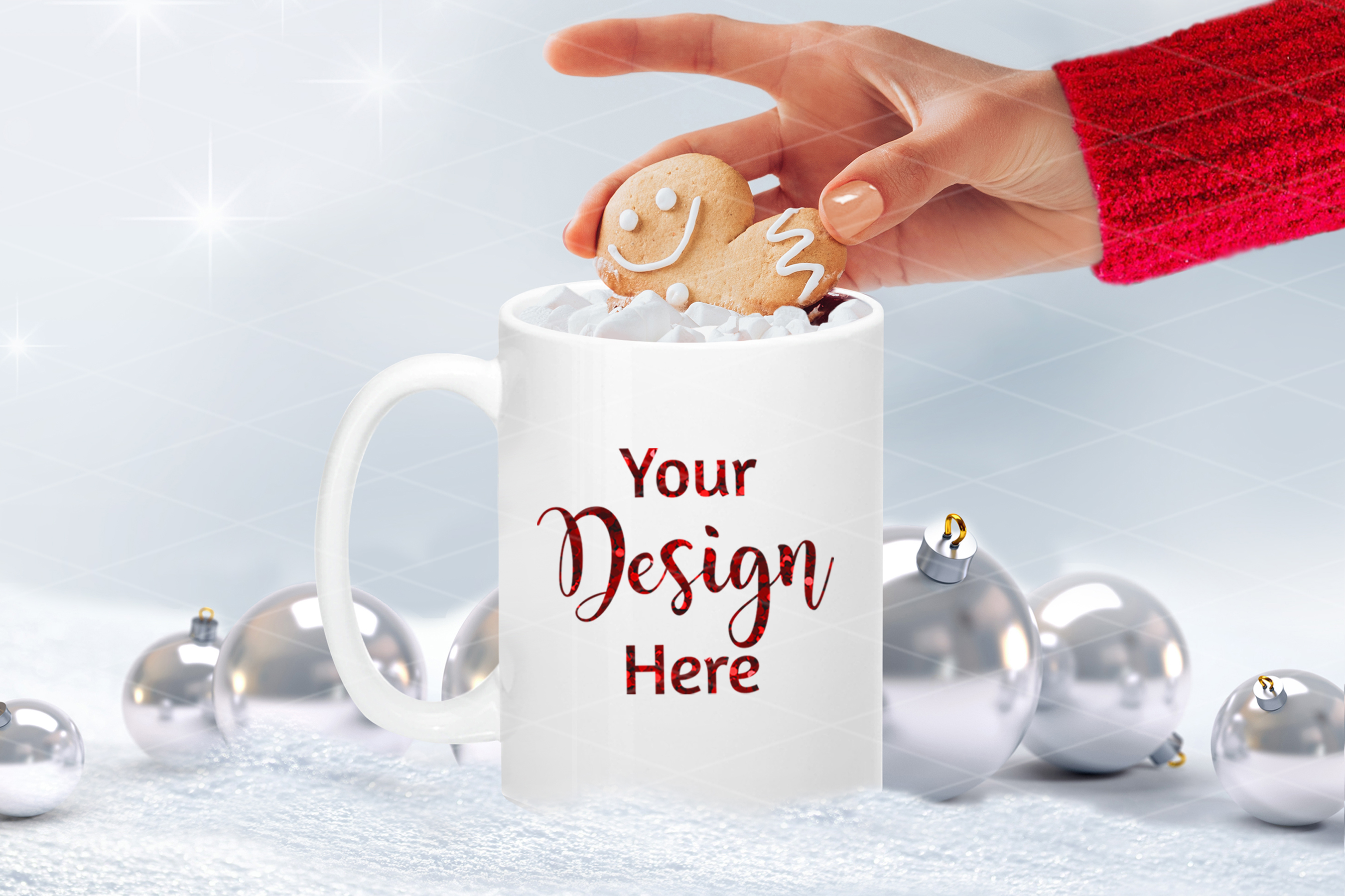 Christmas Mug Mockup Bundle, Cup Mock Up Bundle, JPG example image 2