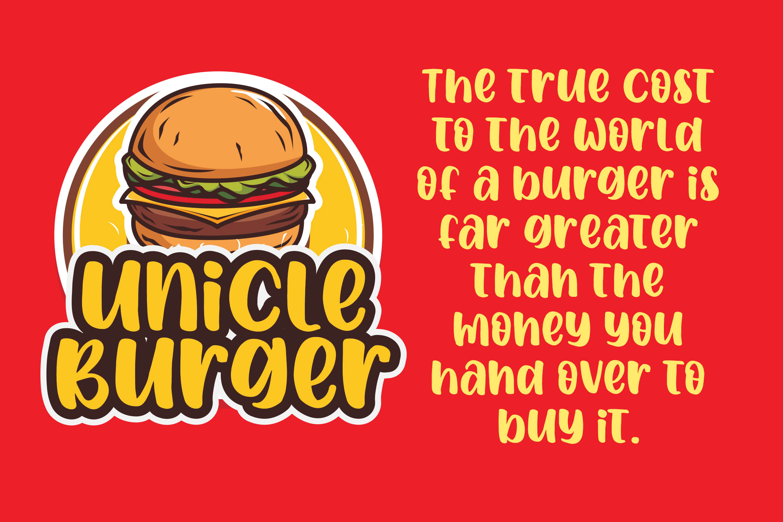 Spicy Burger - Delicious Unique Font example image 5