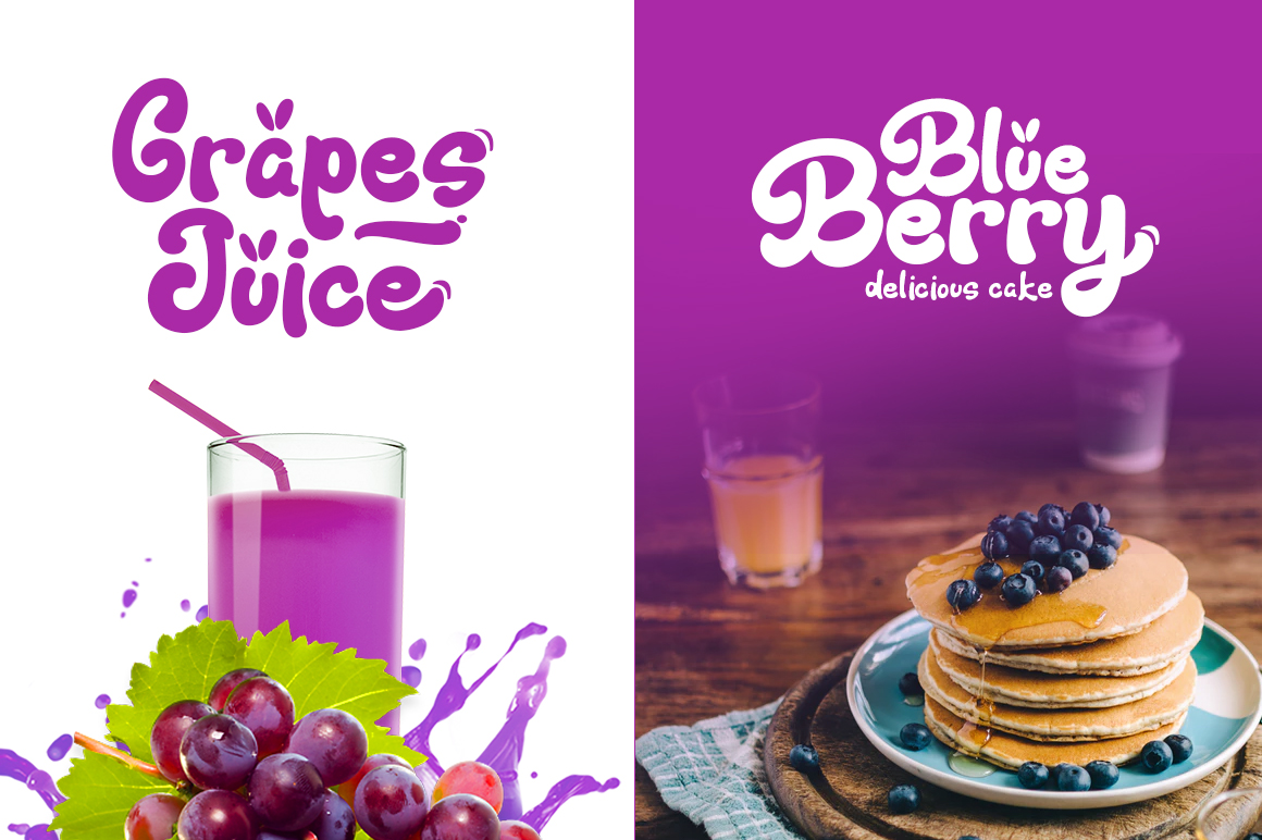 Fresh Grapes 4 Font example image 5