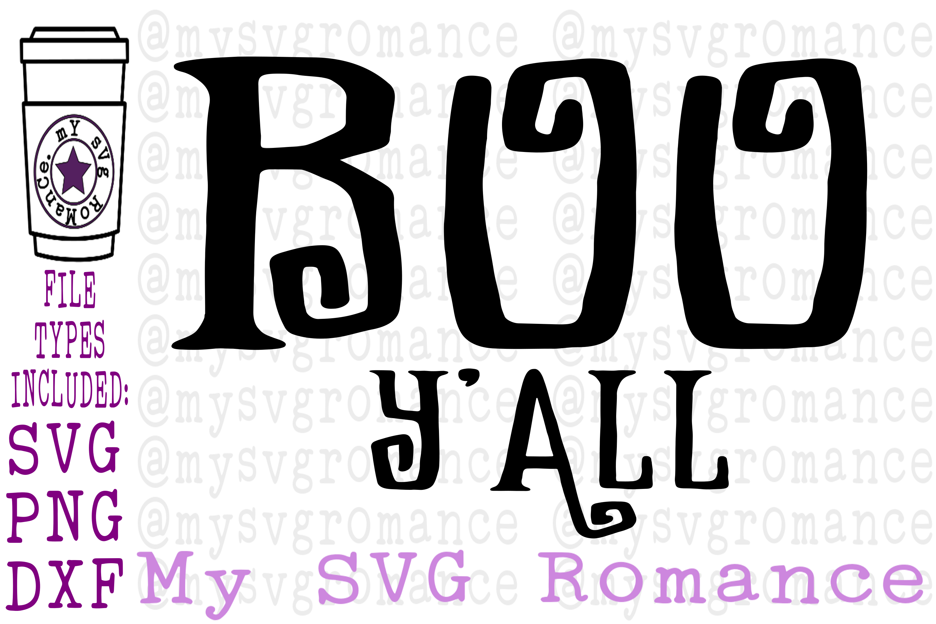Boo Y'all Halloween SVG PNG DXF Shirt or Treat Bag Design example image 1