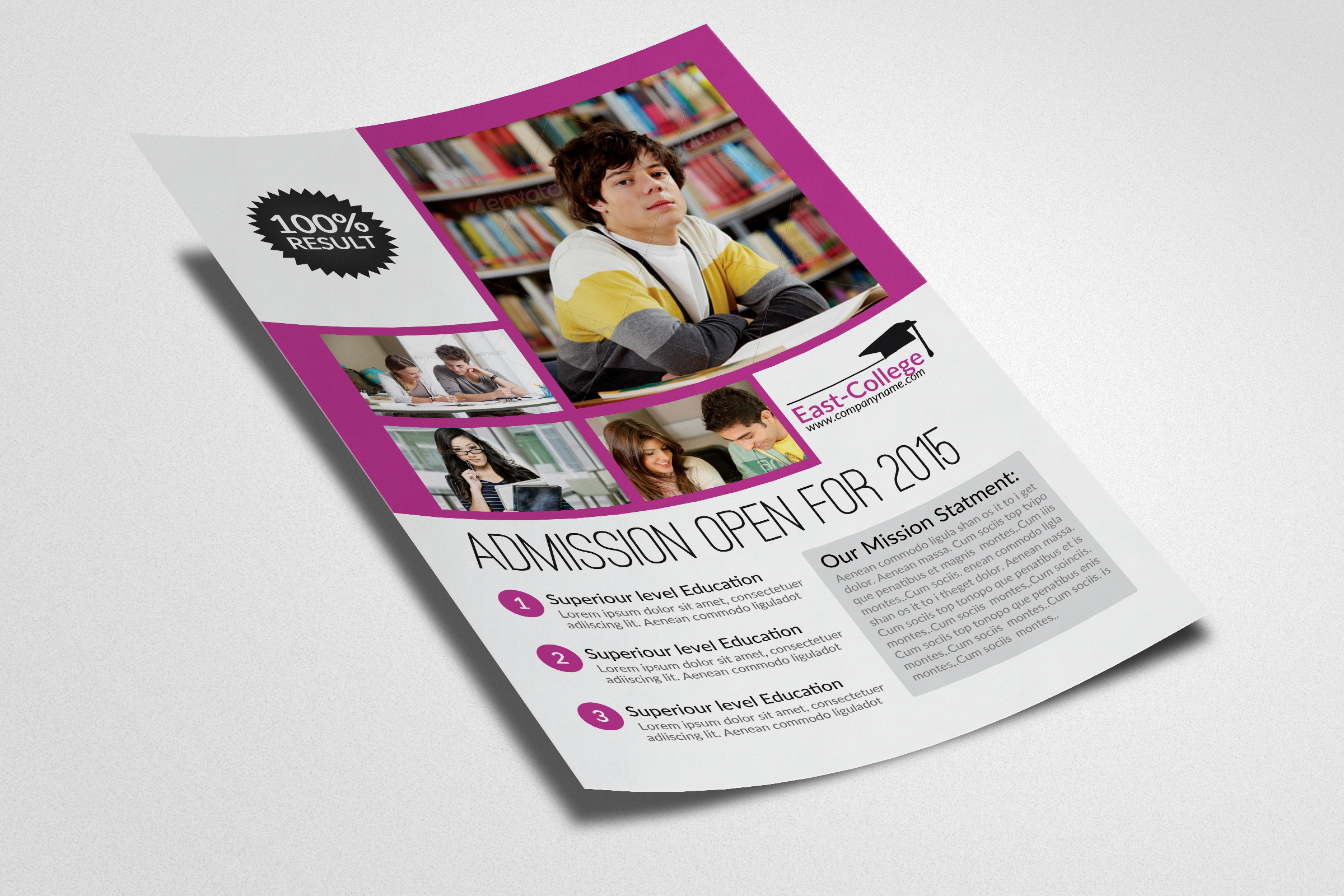 Senoir Education Flyer Template example image 2