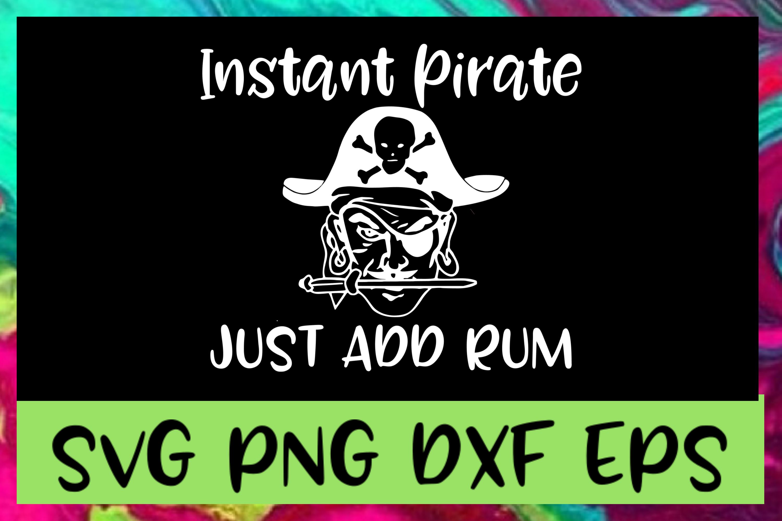 Just Add Rum SVG PNG DXF & EPS Design Files example image 1