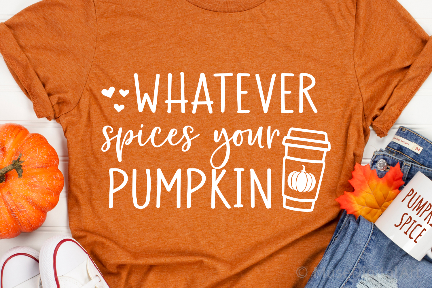 Funny Fall Svg, Whatever Spices Your Pumpkin Svg, Pumpkins example image 1