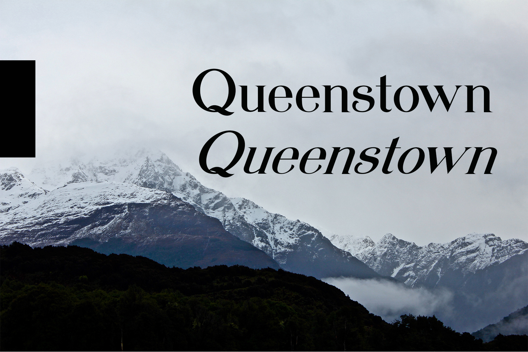 Queenstown serif font example image 3