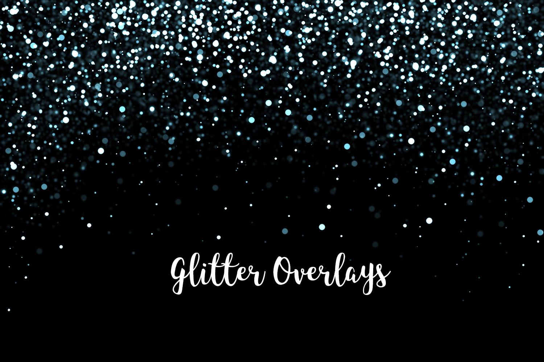 Glitter Dust Overlays, Glitter Bokeh Texture Overlays example image 5