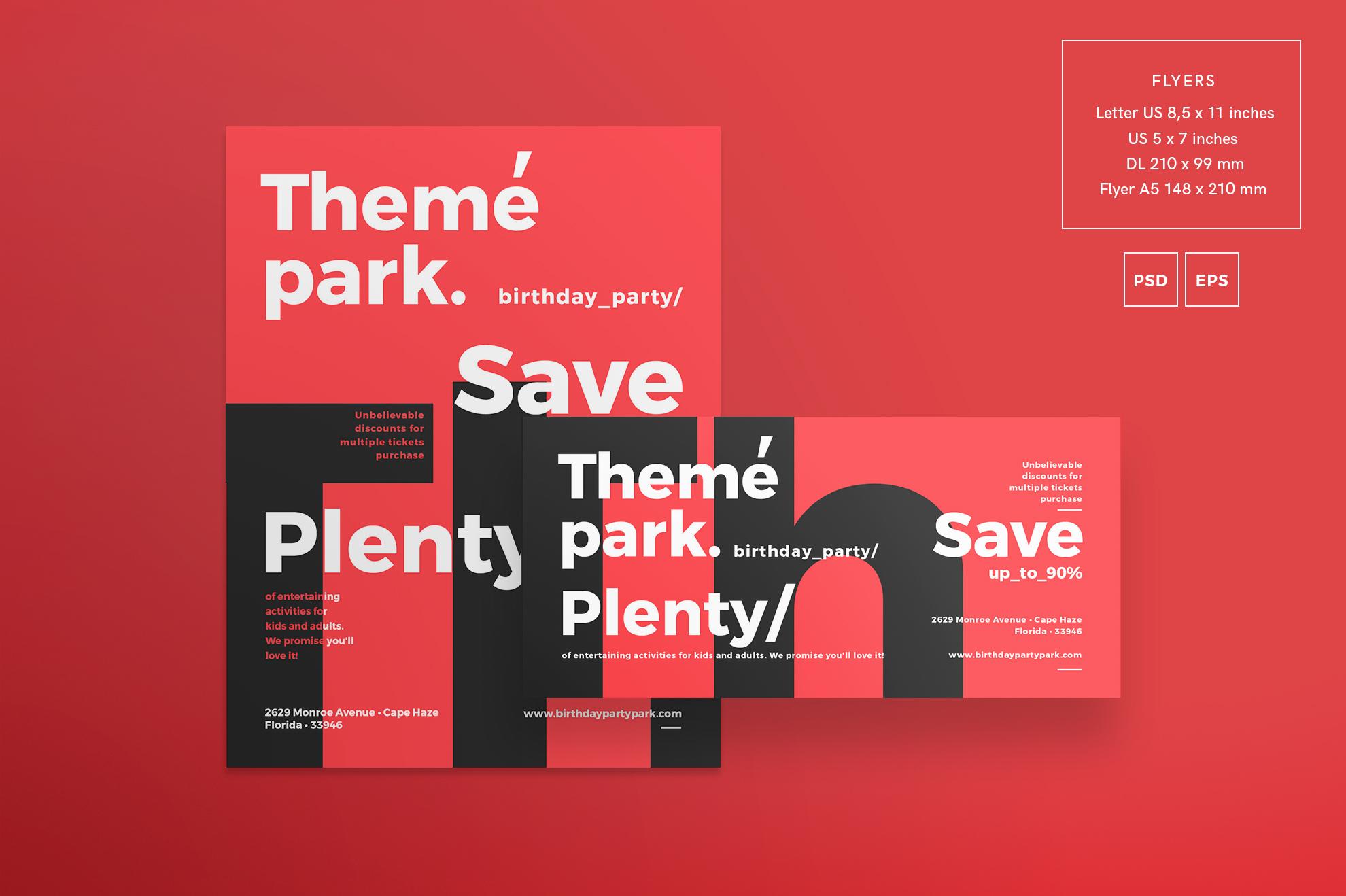 Theme Park Party Entertainment Design Templates Bundle example image 8