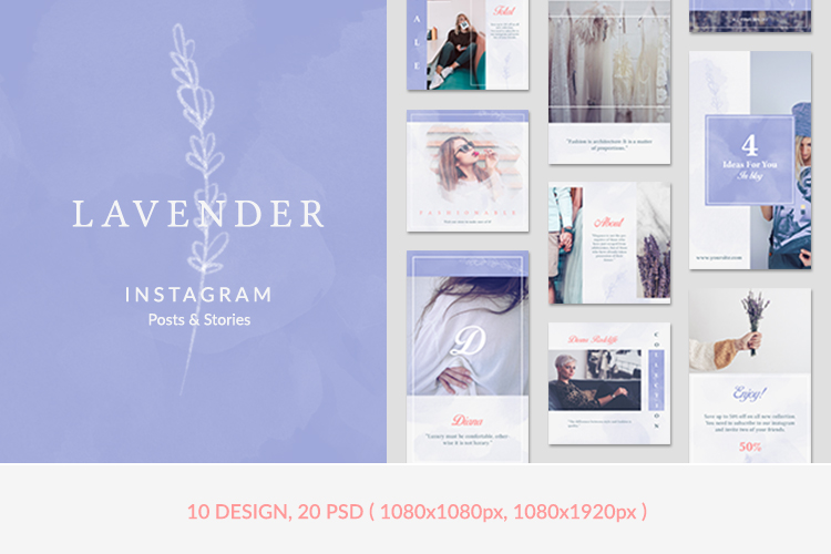Instagram Posts & Stories - Lavender example image 1