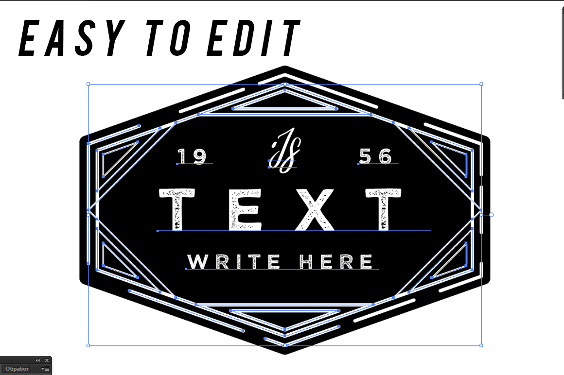 100 vintage logo templates by seveniwe design bundles