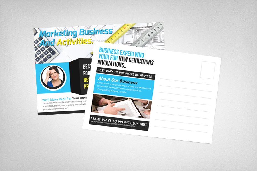 Marketing Business Postcard Template example image 2