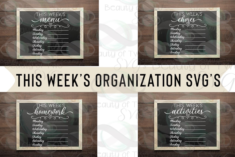 This week's organization svg Bundle, Menu svg, chores svg example image 1