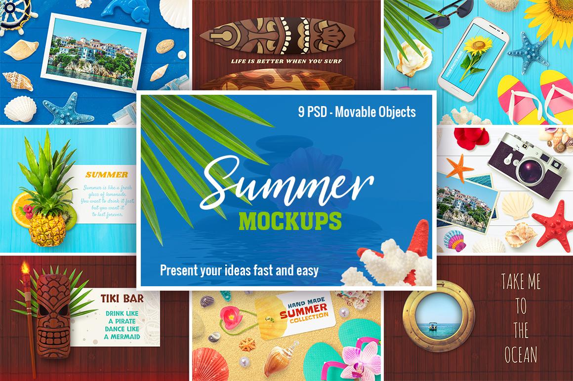 9 Summer Mockups example image 1