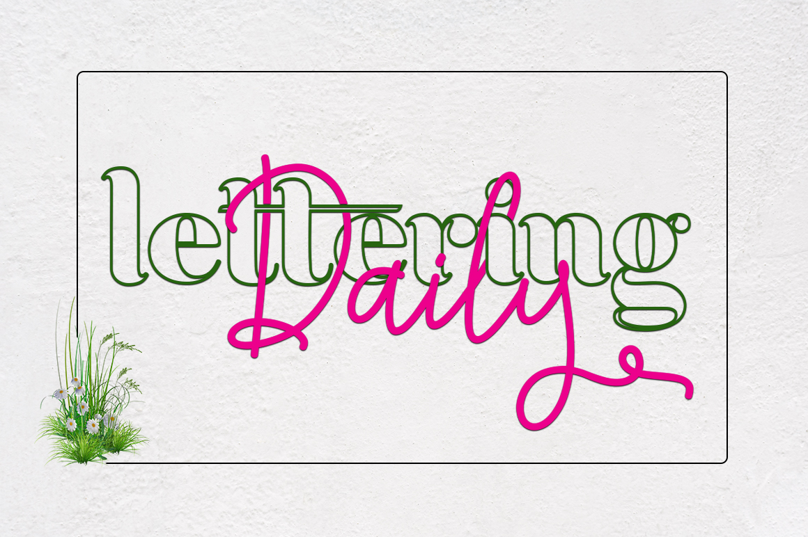 Achiela font family example image 5