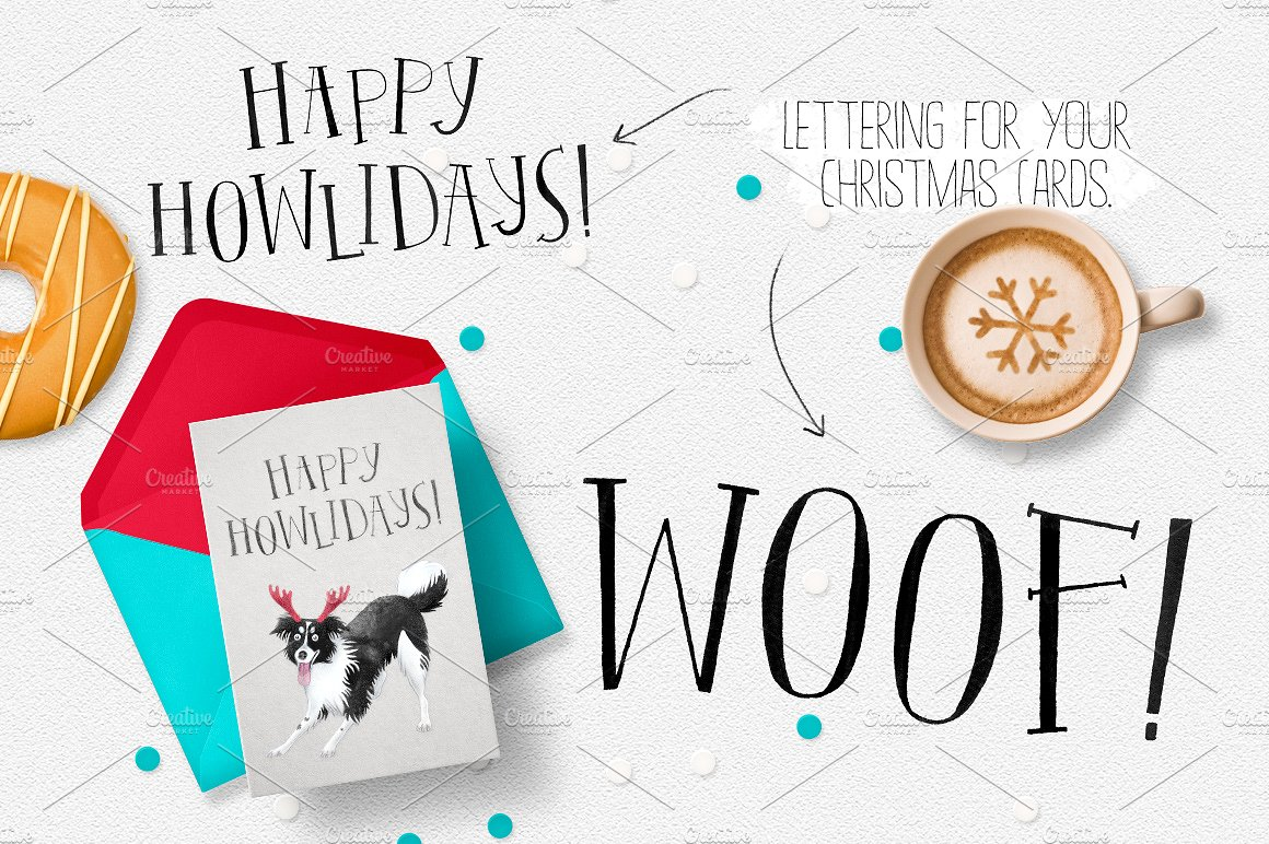 CHRISTMAS DOGS. WOOF! example image 2