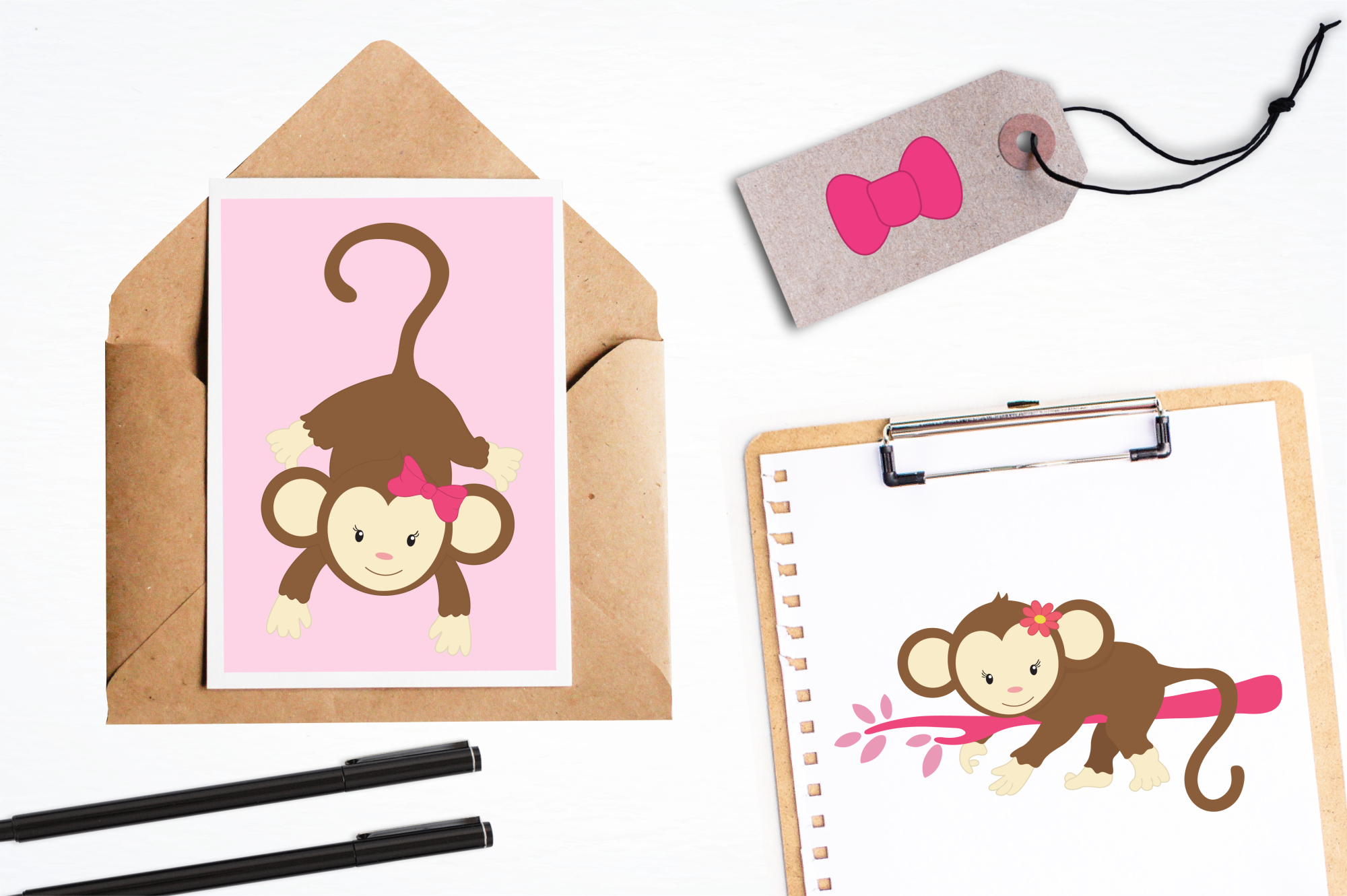 Pretty Monkeys graphics and illustrations example image 4