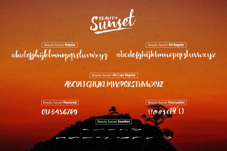 Beauty Sunset + Swashes example image 9