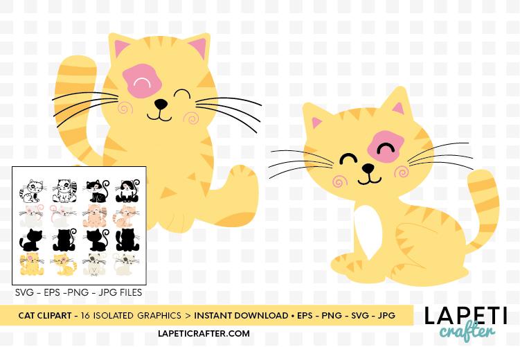 Cat clipart, kitten cats clipart, kitty clip art digital example image 7