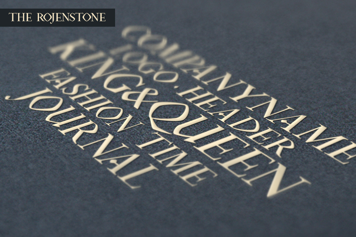 Rojenstone Font example image 6