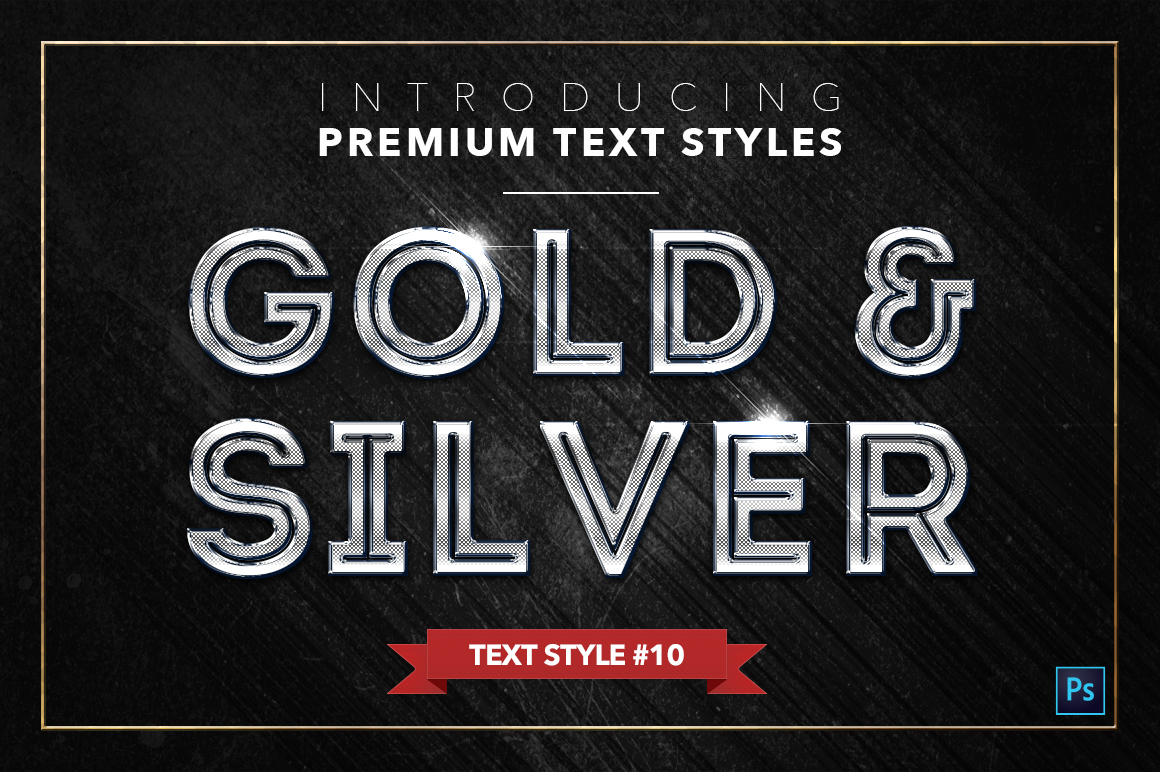 Gold & Silver #2 - 20 Text Styles example image 14