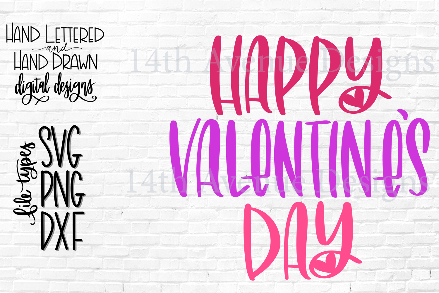 Happy Valentines Day SVG, Happy Valentines Day Cut File example image 2