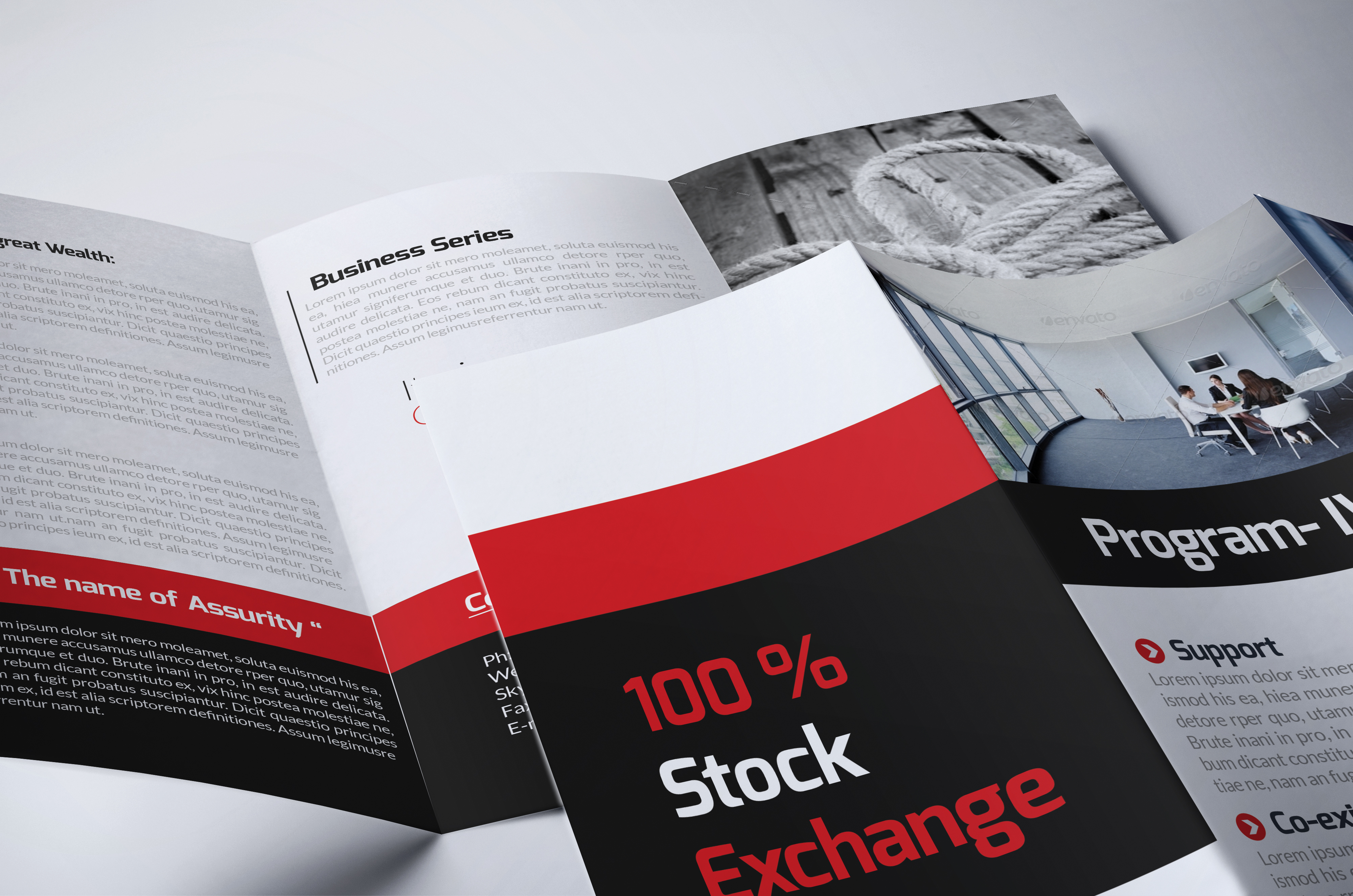 Business Corporate Trifold Brochure example image 4
