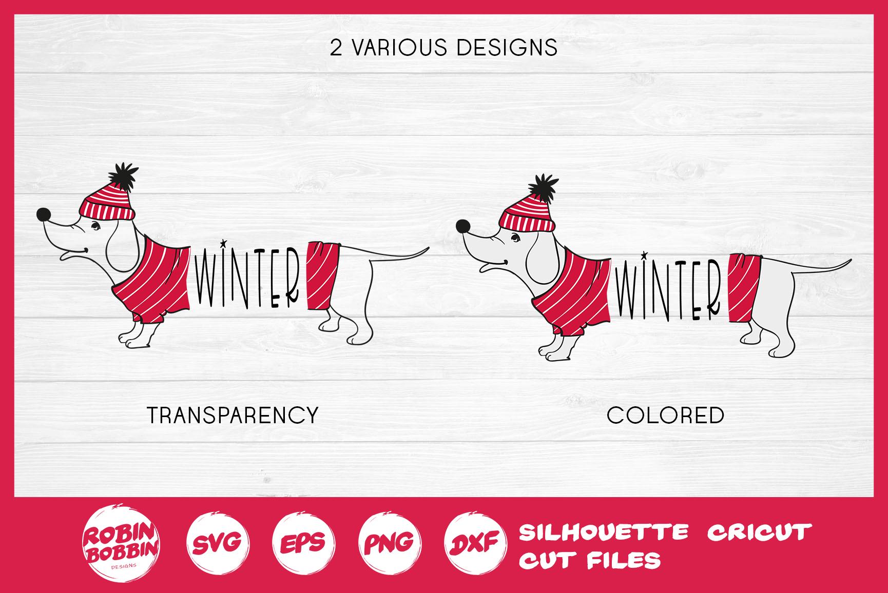 Christmas SVG - Funny Christmas Dog SVG- Dachshund Dog SVG example image 3