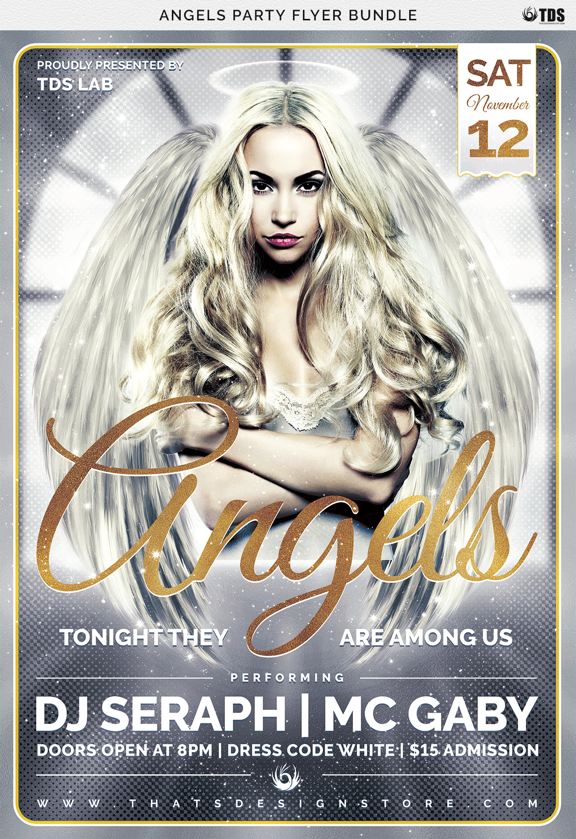 Angels Party Flyer Bundle example image 13