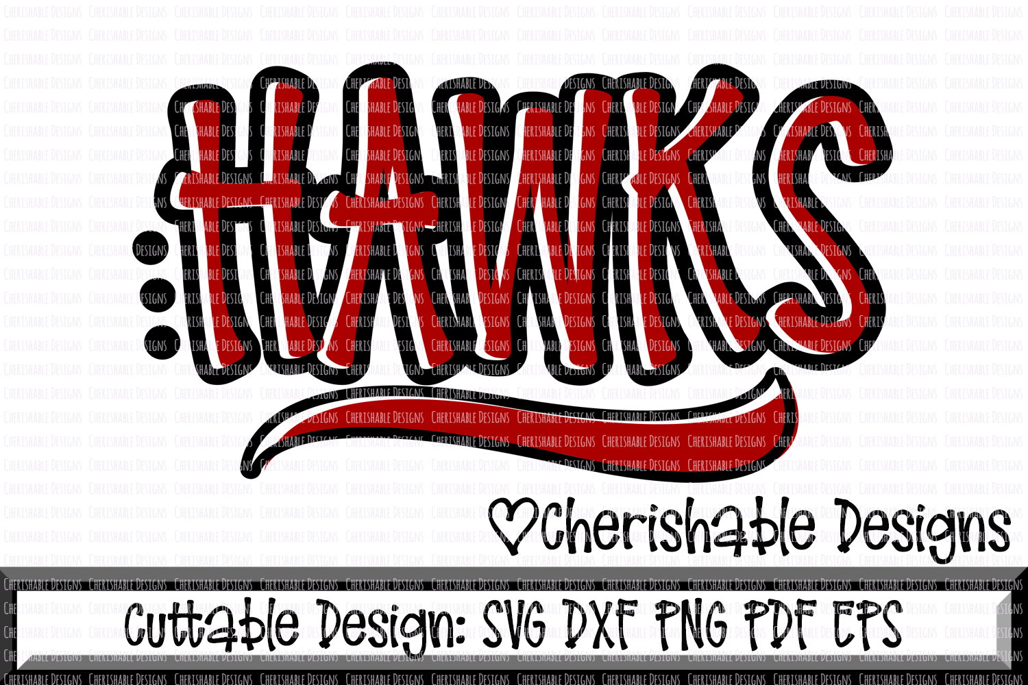 Hawks Sport SVG DXF PNG PDF EPS example image 1