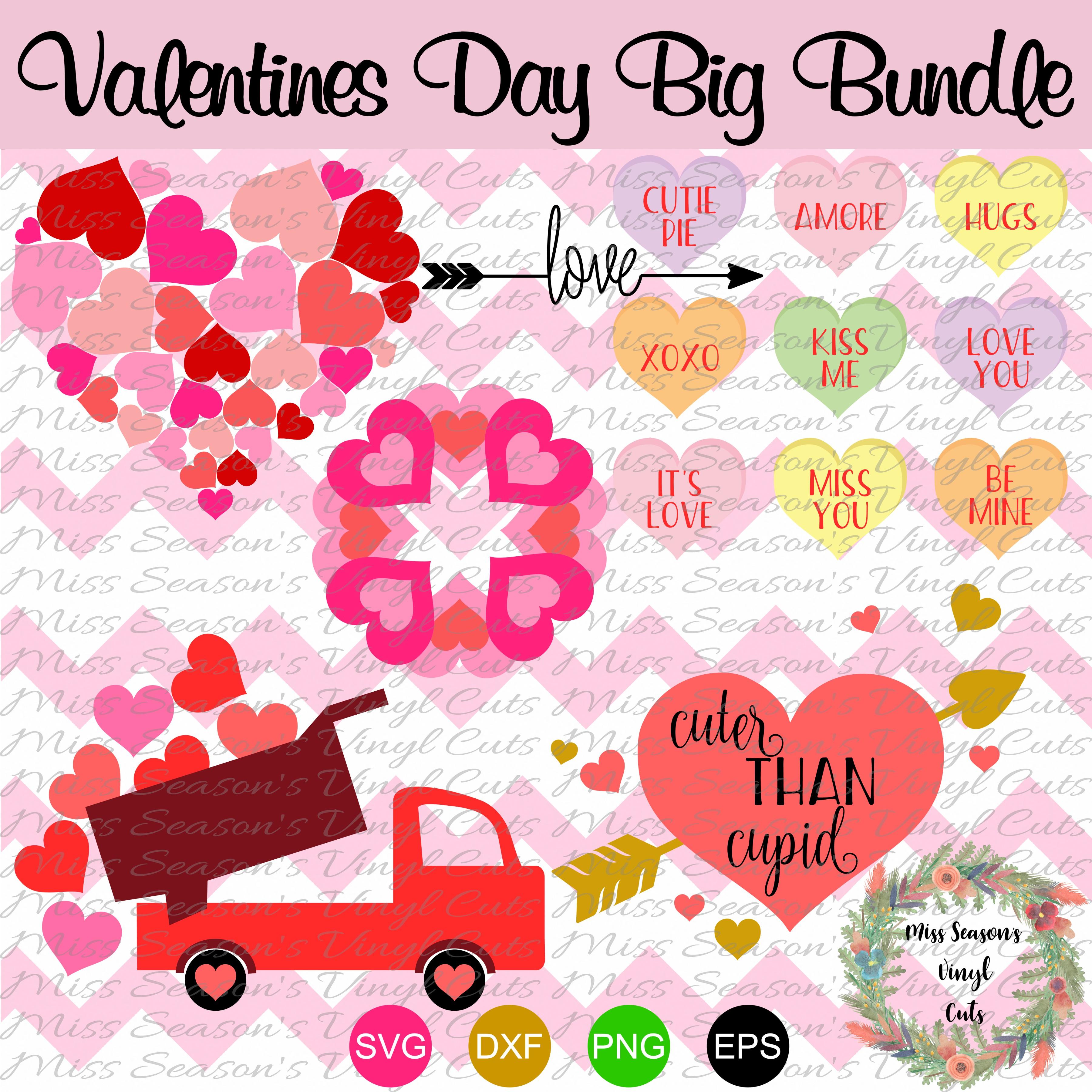 Huge Valentines Day Bundle SVG  example image 2