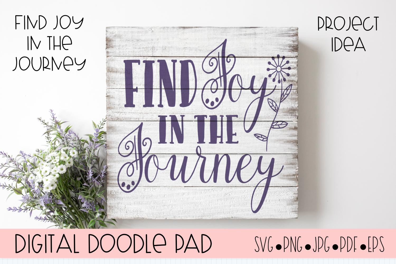 Inspirational SVG |Find Joy | Silhouette & Cricut Cut File example image 1