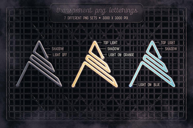 Neon Light Lettering Kit example image 4