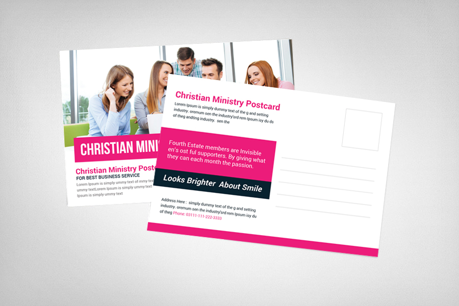 Christian Ministry Postcard Template example image 2