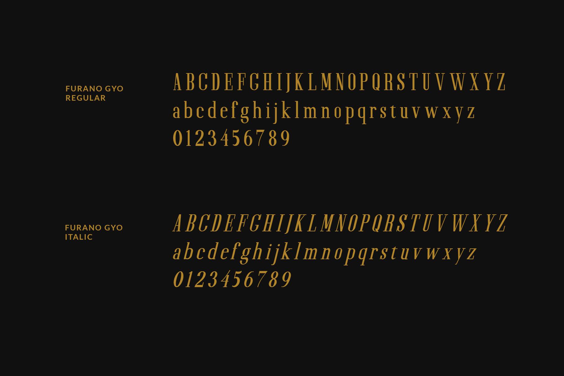 Furano Gyo font example image 2