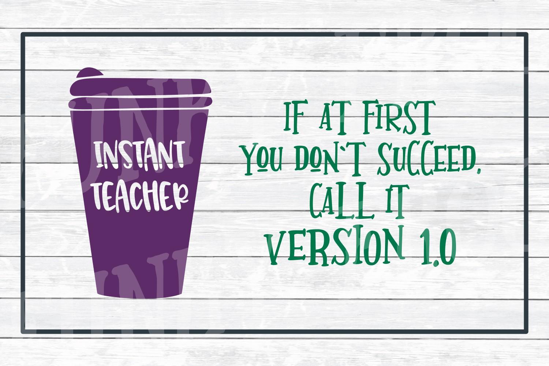 Teacher Designs Bundle- Teacher SVG Cut Files example image 4