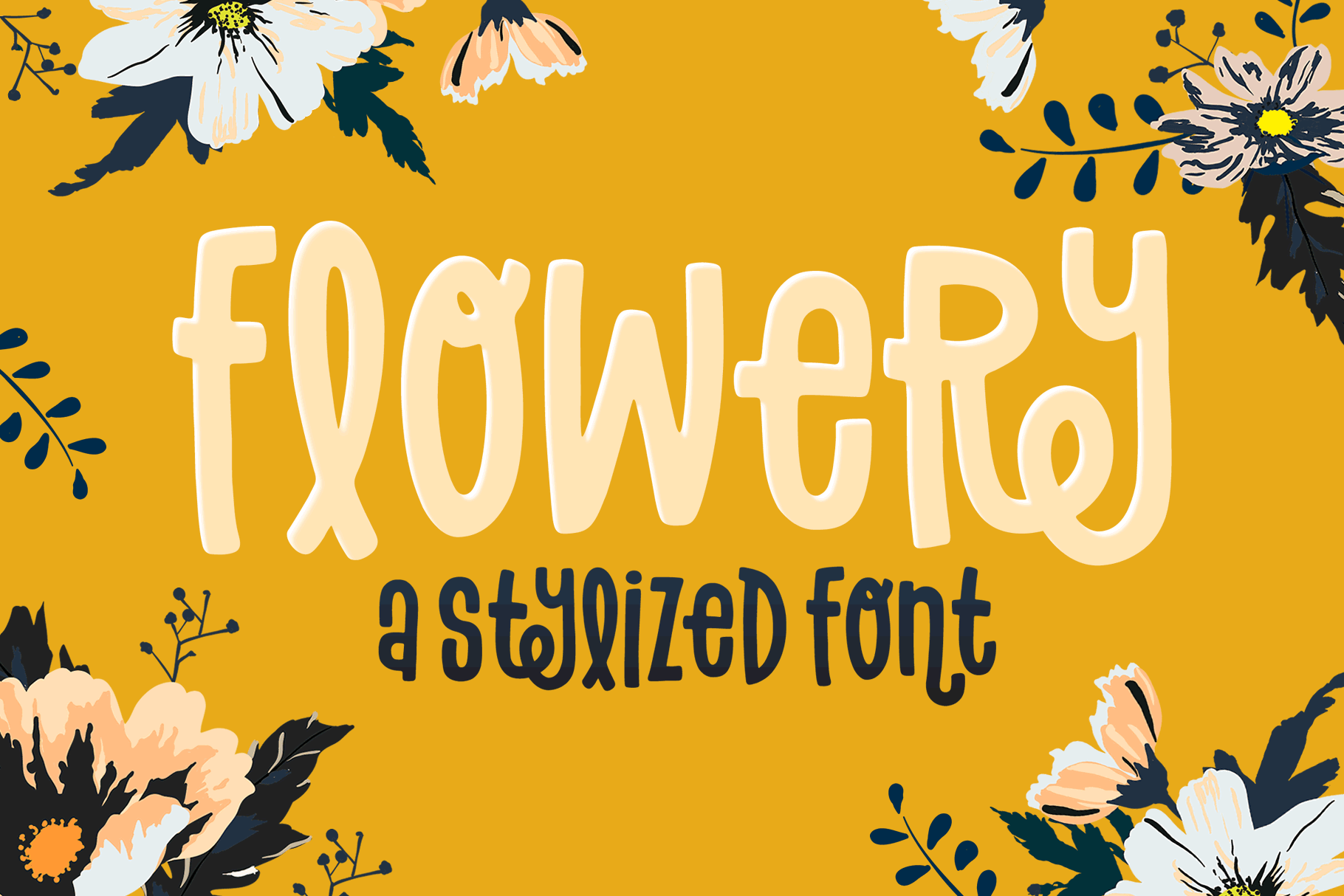 Flowery Font example image 1