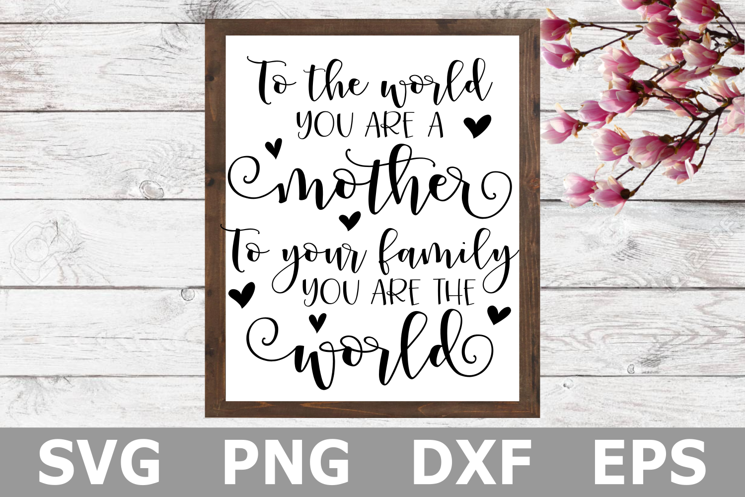 To the World You Are a Mother - A Mothers Day SVG Cut File example image 1