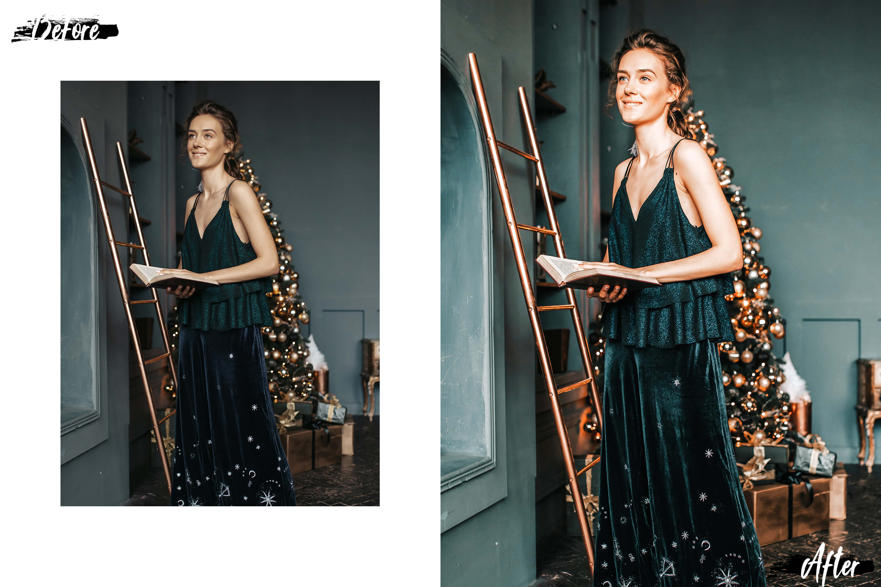 05 Christmas Eve Photoshop Actions, ACR and LUT presets example image 3