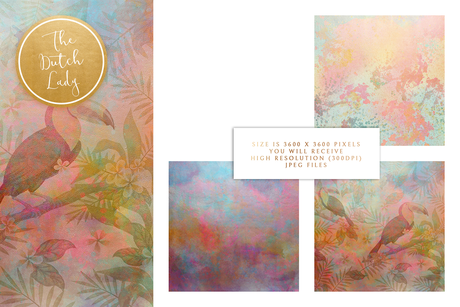 Floral Backgrounds & Paper Designs - Victoria example image 3