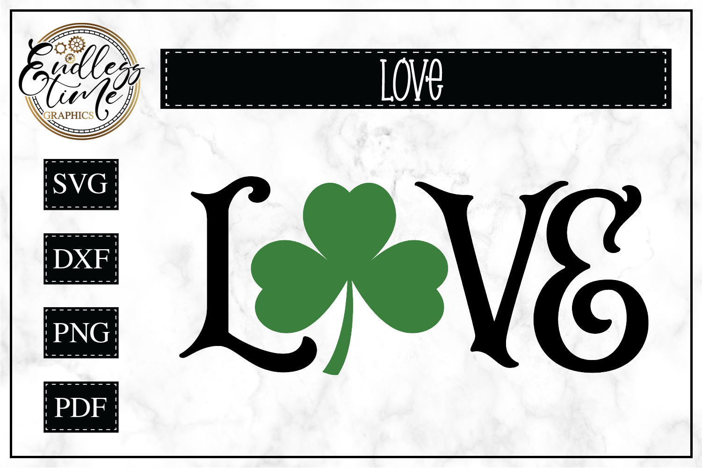 Love Shamrock SVG Cut File example image 1