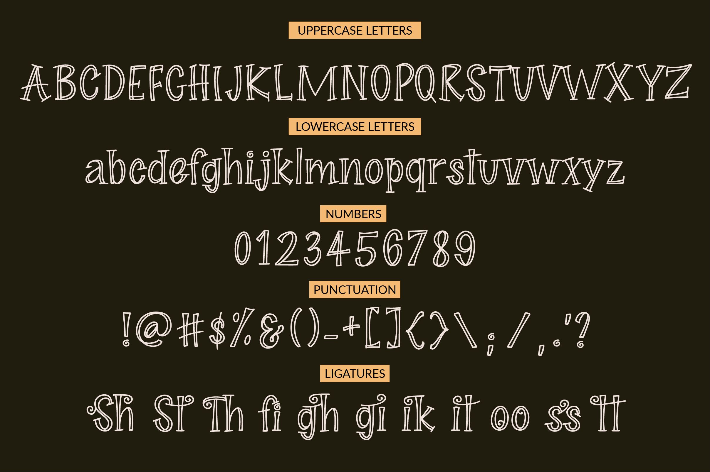 Midnight Story Font Family example image 6