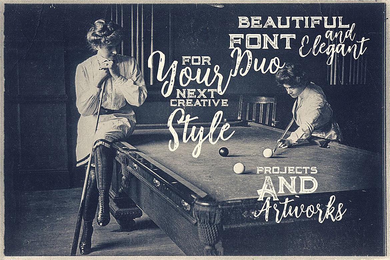 Billiard Font Duo example image 3