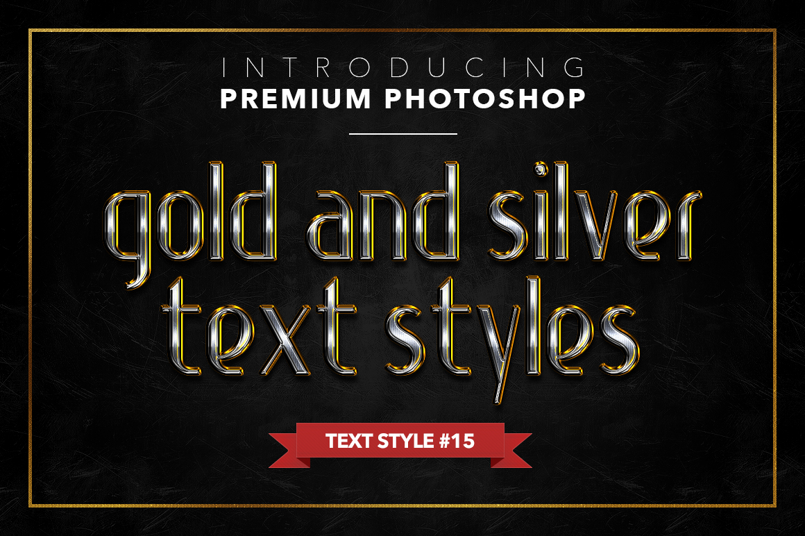 Gold & Silver #1 - 20 Text Styles example image 10