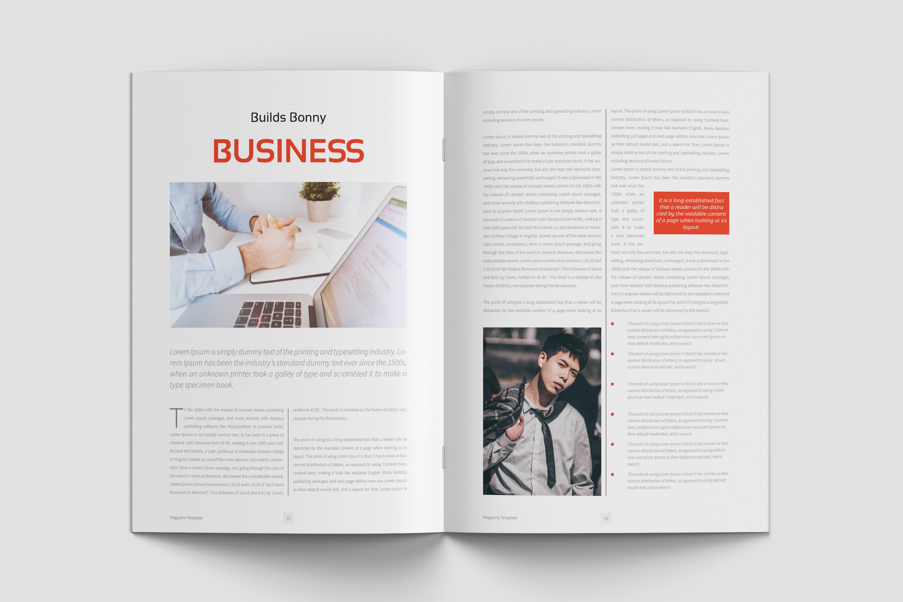 Business Magazine Template example image 10