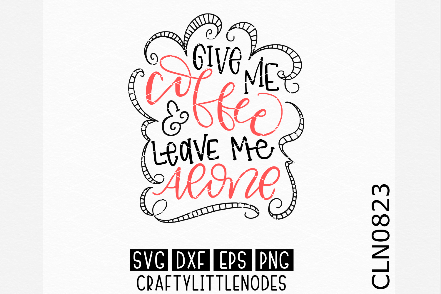 Hand Lettered- Give Me Coffee example image 1