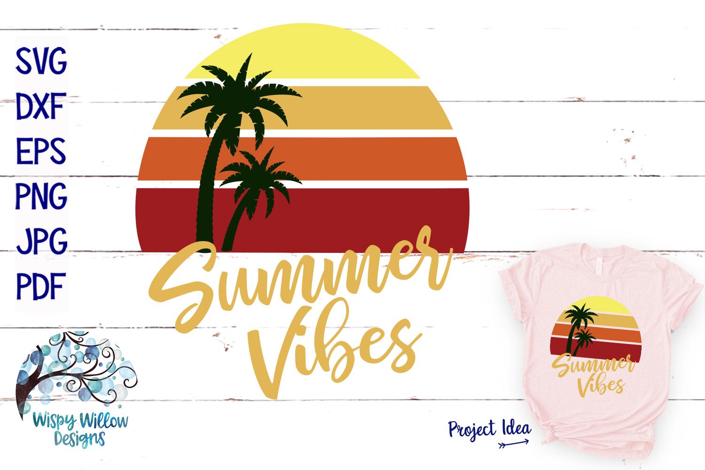 Summer Vibes SVG | Summer SVG | Beach Sunset SVG Cut File example image 1