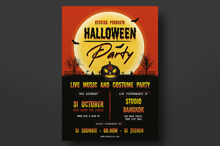 Halloween Flyer Template example image 4