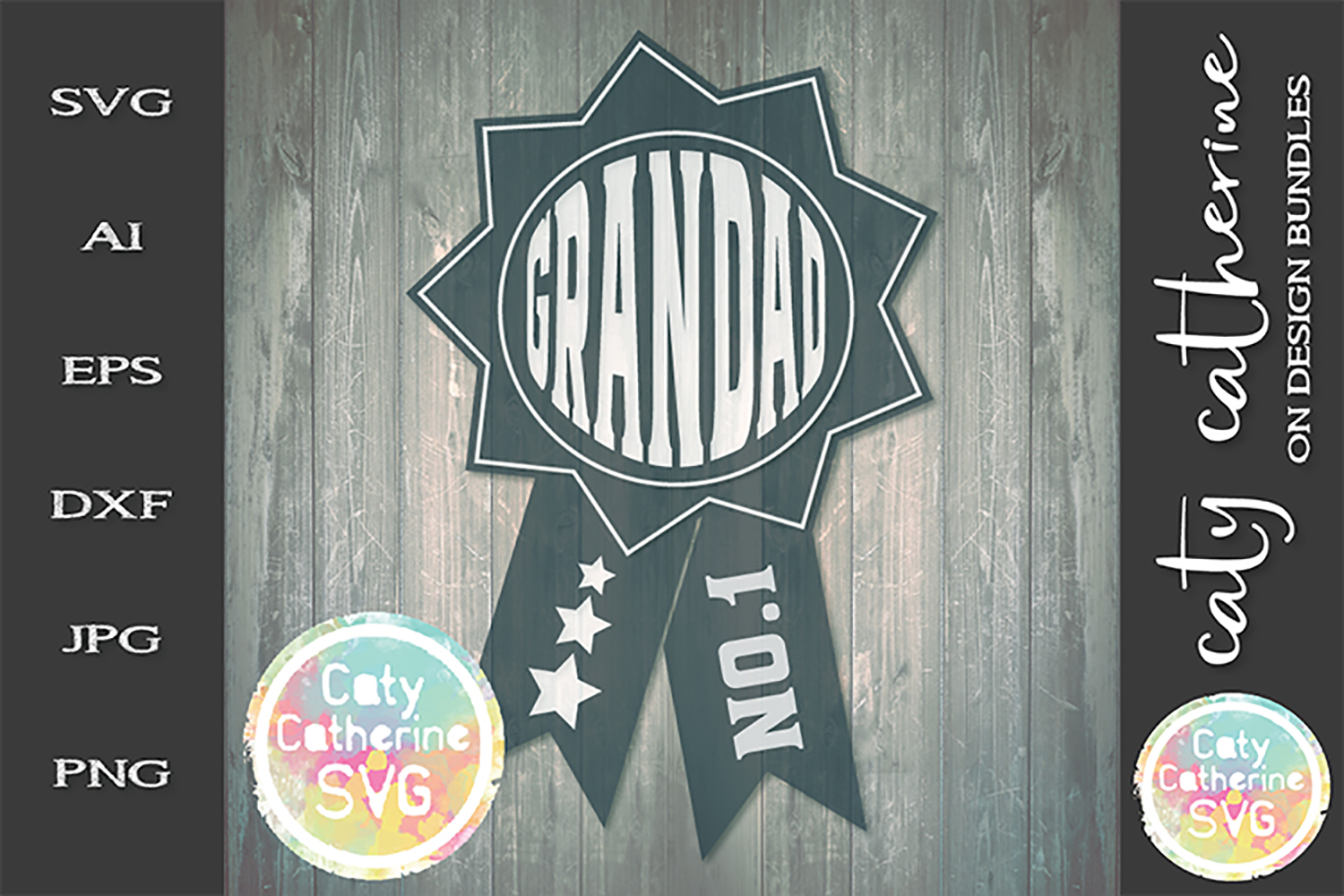 Grandad Father's Day Award SVG Cut File example image 1